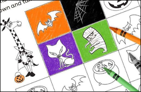 monstrously fun halloween memory game