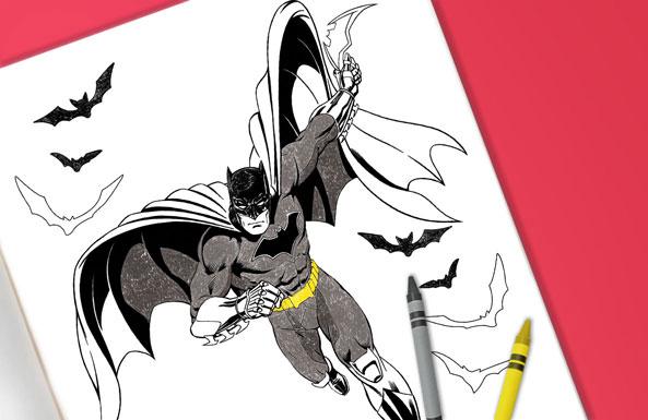 'Batman coloring sheet for kids