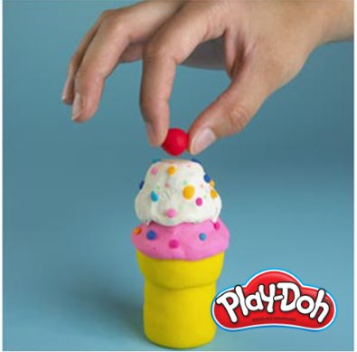 Play-Doh how-to make an ice cream cone step four