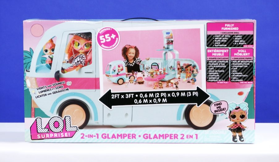 L O L Surprise 2 In 1 Glamper Fashion Camper Toy Review Toys R Us
