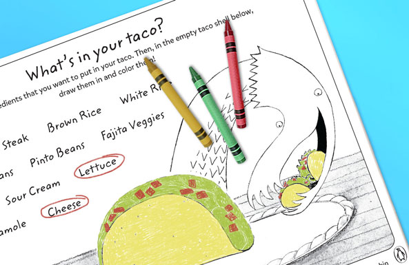 Dragons Love Tacos free printables for kids