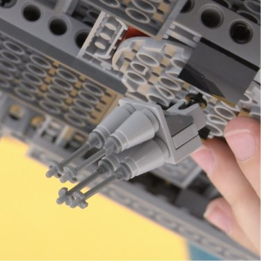 detailed view of the Millennium Falcon