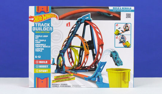 Hot Wheels Track Builder Unlimited Triple Loop Kit Toy Review