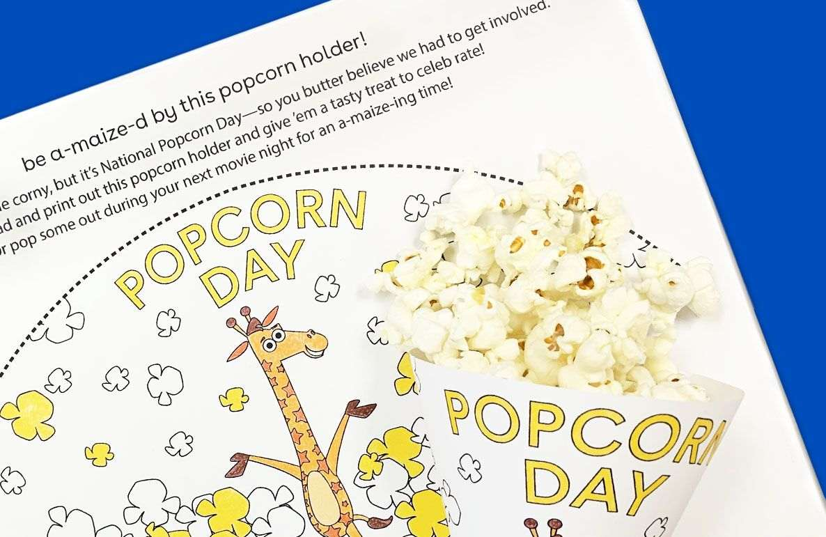be a-maize-d by this popcorn holder!