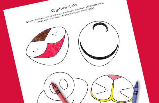 silly face sticks