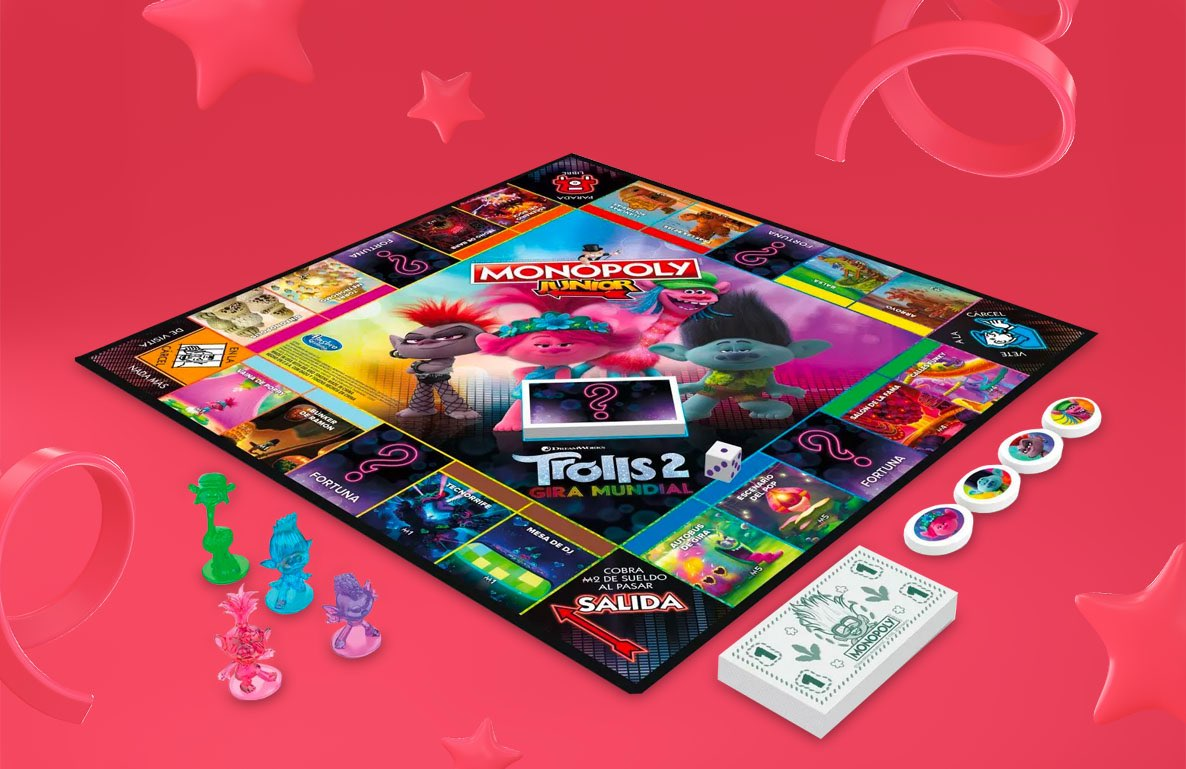 Monopoly Junior: DreamWorks Trolls World Tour Edition