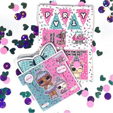 LOL Surprise present surprise party sticker sheet