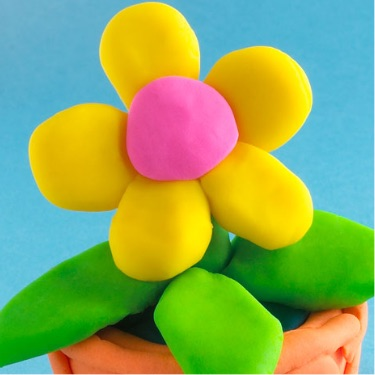 Play-Doh How-To: make a flower