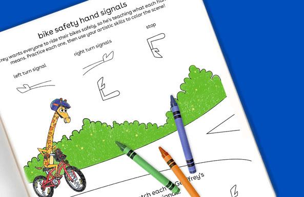 bike safety hand signals