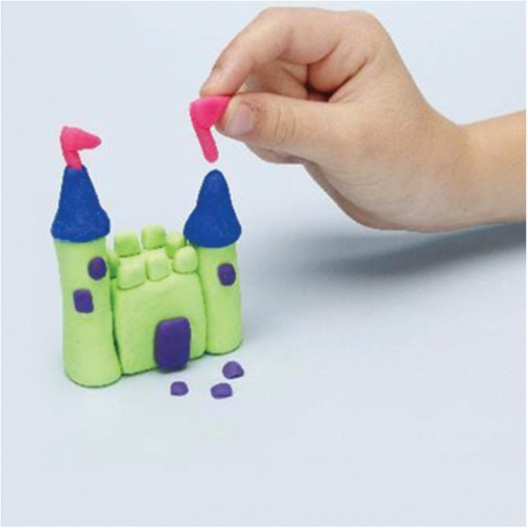 how to make a castle with PlayDoh dough compound step three