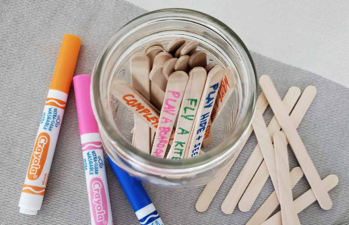 boredom-buster activity jar diy