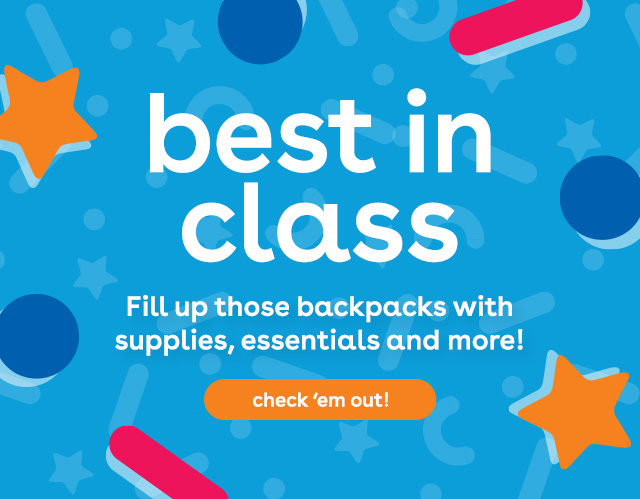 back to school at Toys R Us - crayons, markers, school supplies, backpacks, lunch boxes, folders and more!
