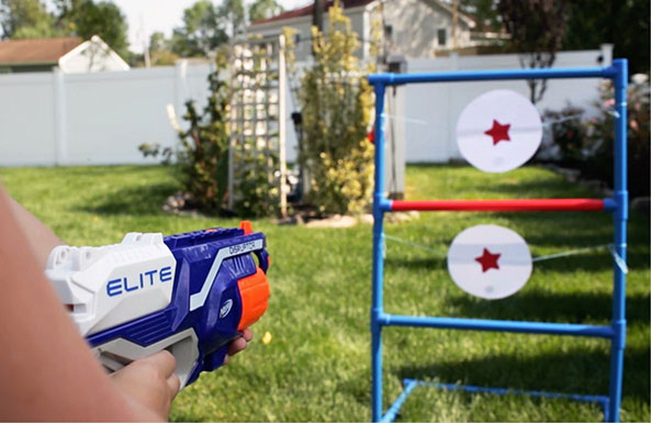 NERF target practice