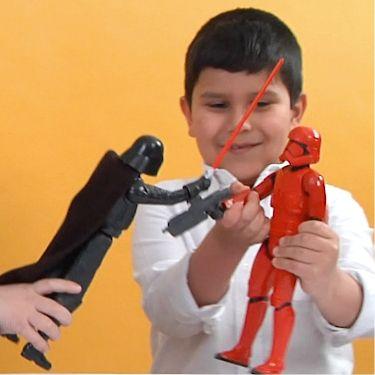 star wars hero action figures in play