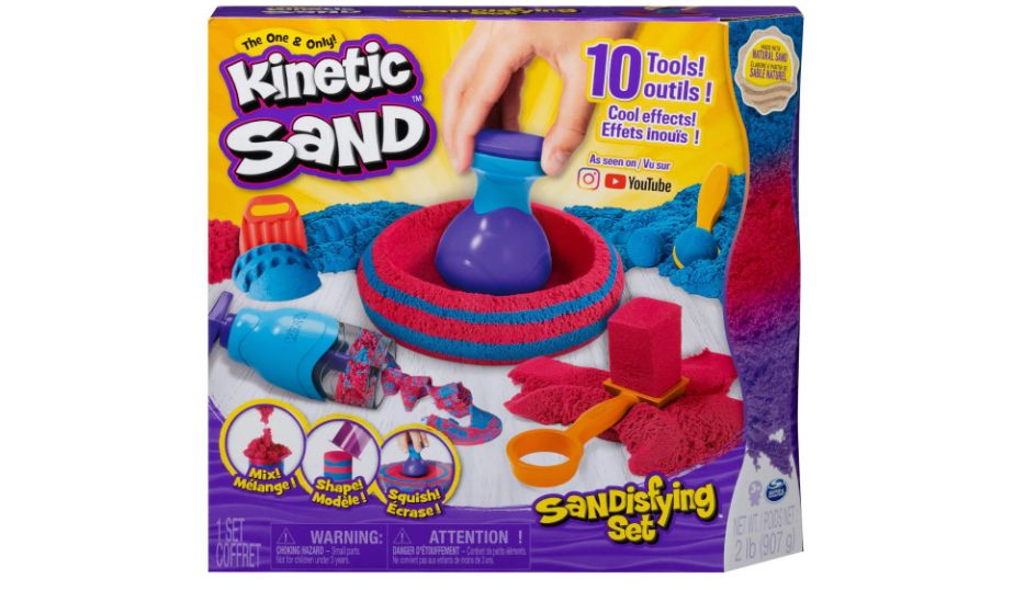 Kinetic Sand Sandisfying Set with Tools by Spin Master