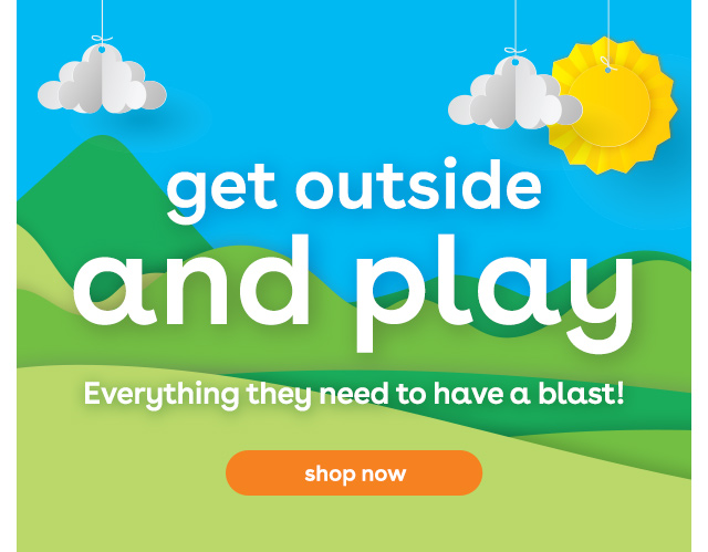 get outside and play at Toys R Us