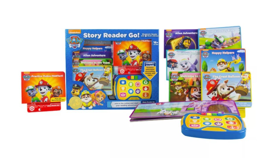 PAW Patrol Story Reader Go! Electronic 8-Book Box Set — Nickelodeon