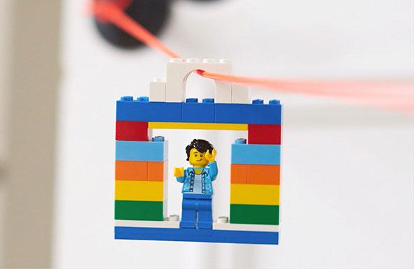 LEGO zipline diy activity for kids