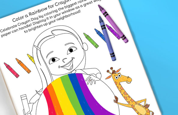 'Color a Rainbow for Crayon Day