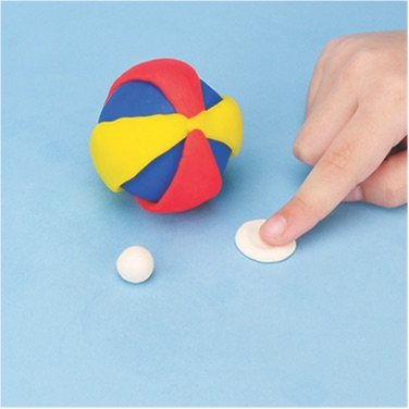 how to make a beach ball with PlayDoh dough compound step three