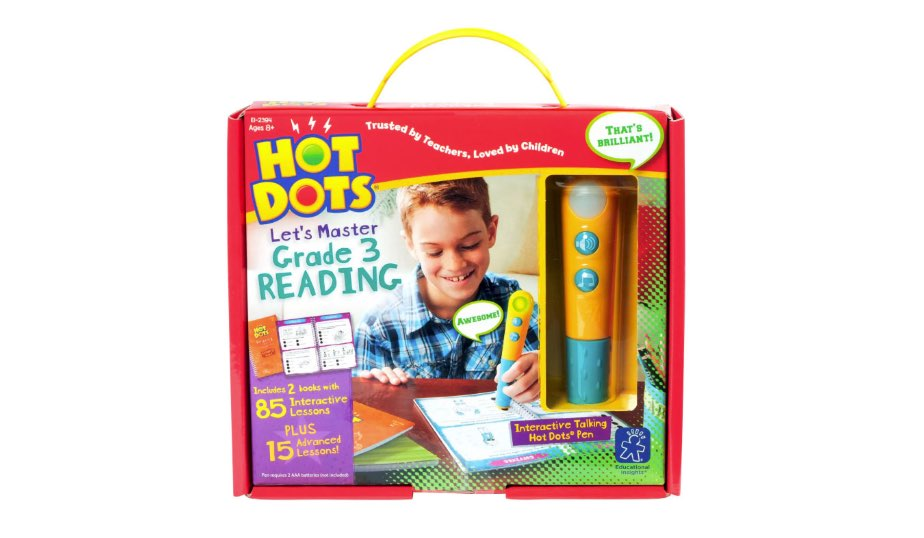Hot Dots Jr. Let's Master Grade 3 Reading Set with Hot Dot Pens — Educational Insights