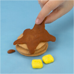 play-doh how to make pretend pancakes