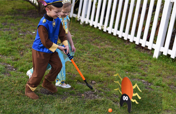 halloween monster golf diy activity for kids