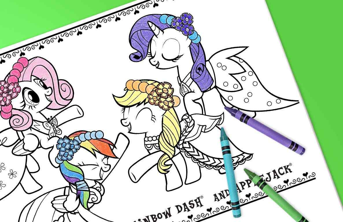 My Little Pony Coloring Sheets Printable Toys R Us