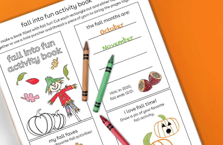 fall into fun activity book