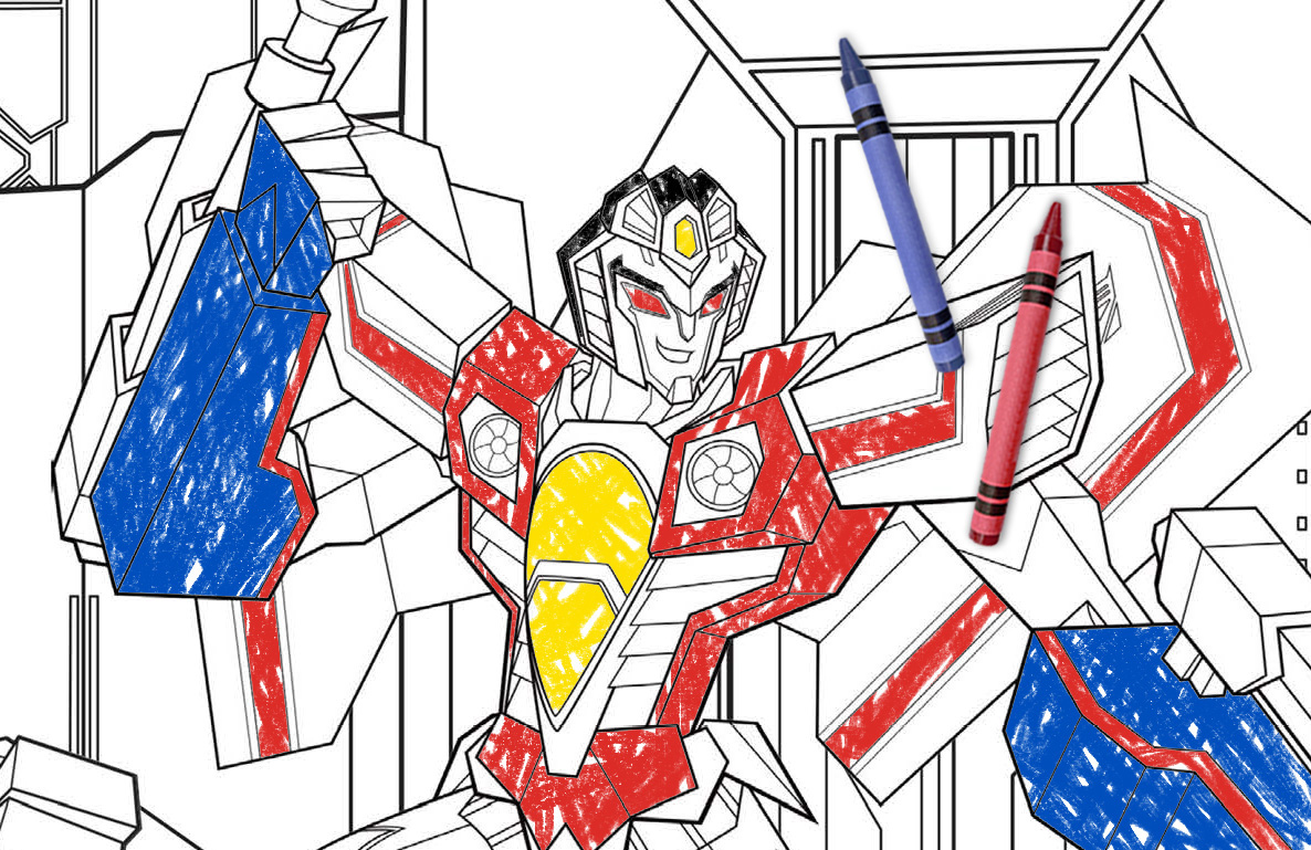 Transformers coloring action
