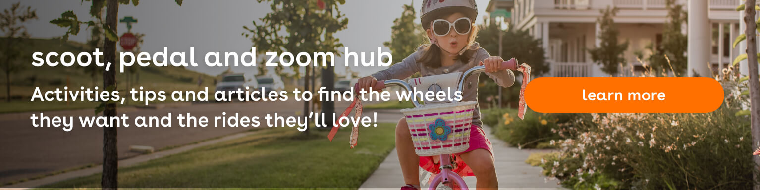 scoot, pedal and zoom hub - Toys R Us