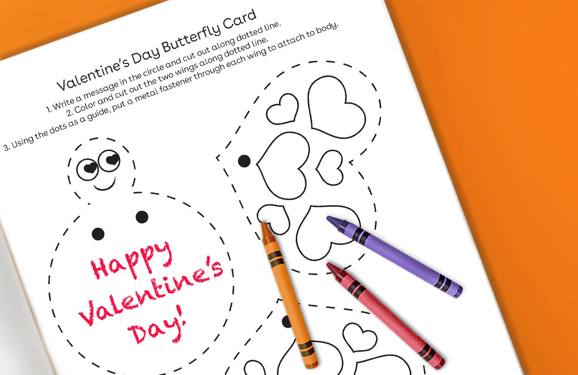Valentine's Day butterfly card
