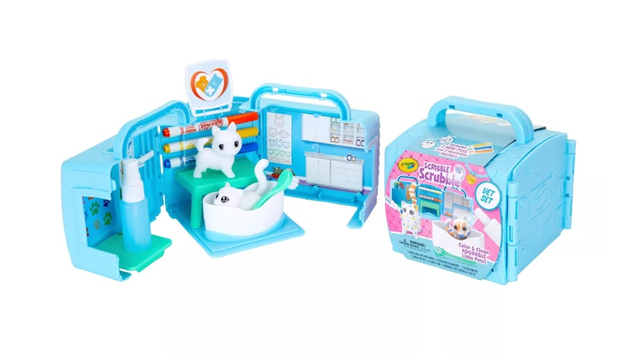 Scribble Scrubbie Pets Vet Playset with Toy Pets - Crayola
