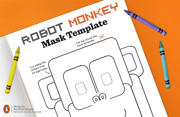 Penguin robot monkey mask free printable from Toys R Us