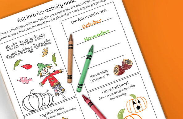 fall into fun activity book free printable for kids