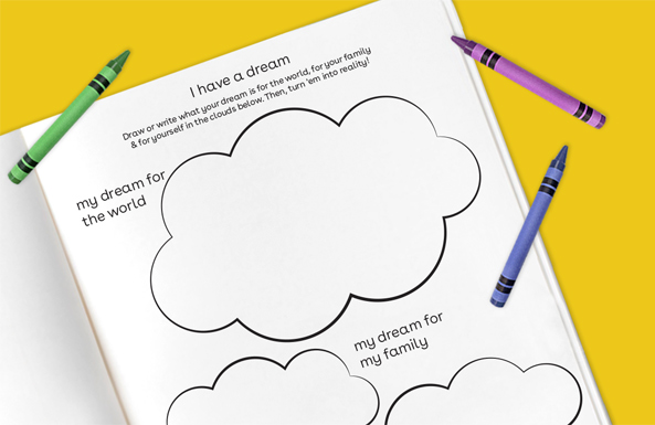 'i have a dream free printables for kids