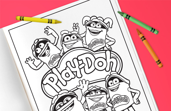 Play-Doh coloring pages free printable for kids