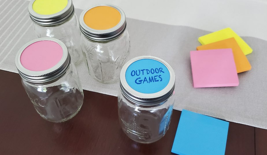 activities jar labels with activity ideas for kids