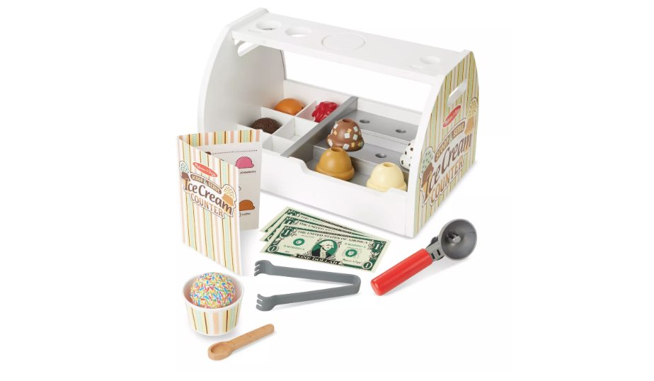 Wooden Scoop and Serve Ice Cream Counter — Melissa & Doug