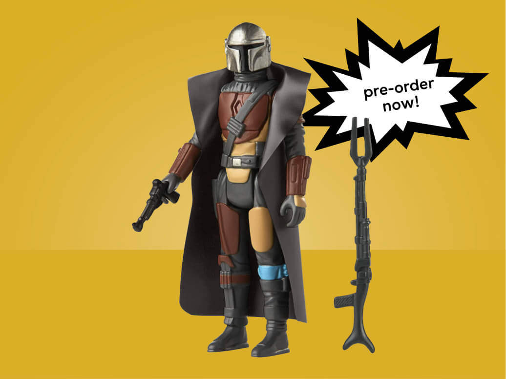 Star Wars Retro Collection The Mandalorian Toy 3.75-Inch-Scale Collectible Action Figure with Accessories