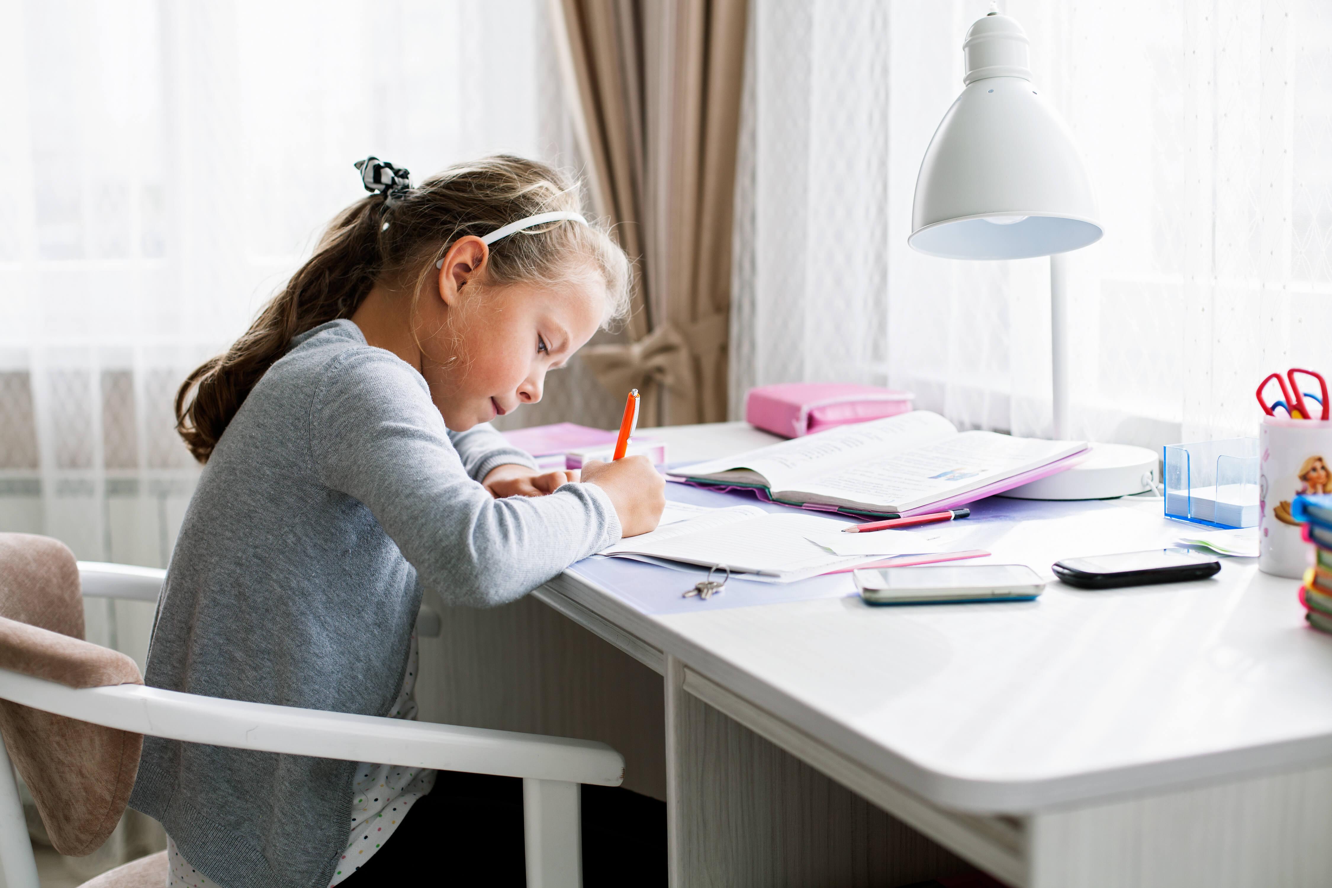 create distraction free homework zones