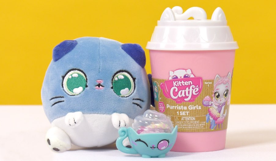 Kitten Catfé Purrista Girls, Meowble Yarn Ball Bracelets, Meowble Scented Plush Review