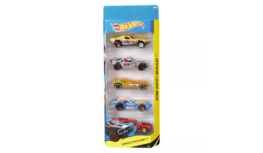 Hot Wheels Diecast Five Car Pack - Mattel