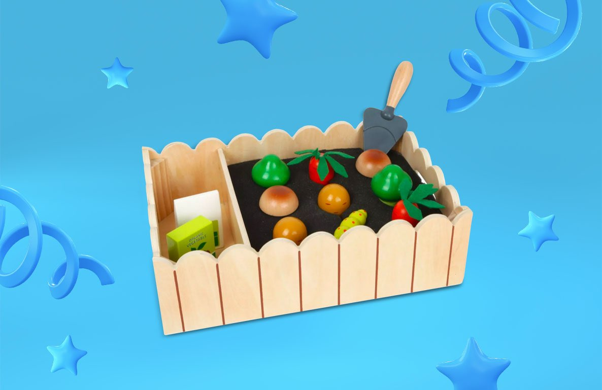 Small Foot Vegetable Garden Complete Playset