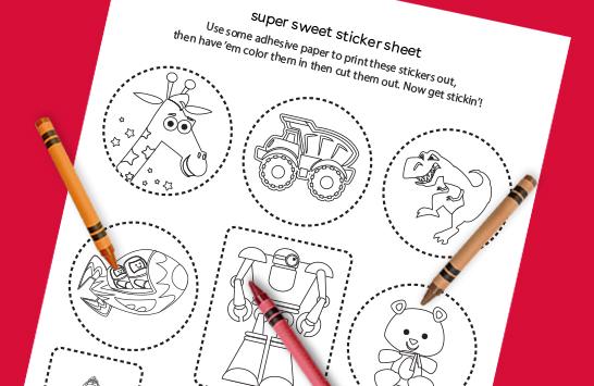 super sweet sticker sheet
