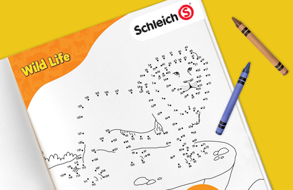 Schleich connect the dots free printable game for kids