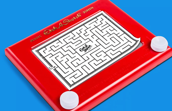 Etch A Sketch overlay printable for kids
