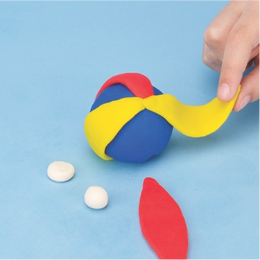 how to make a beach ball with PlayDoh dough compound step two