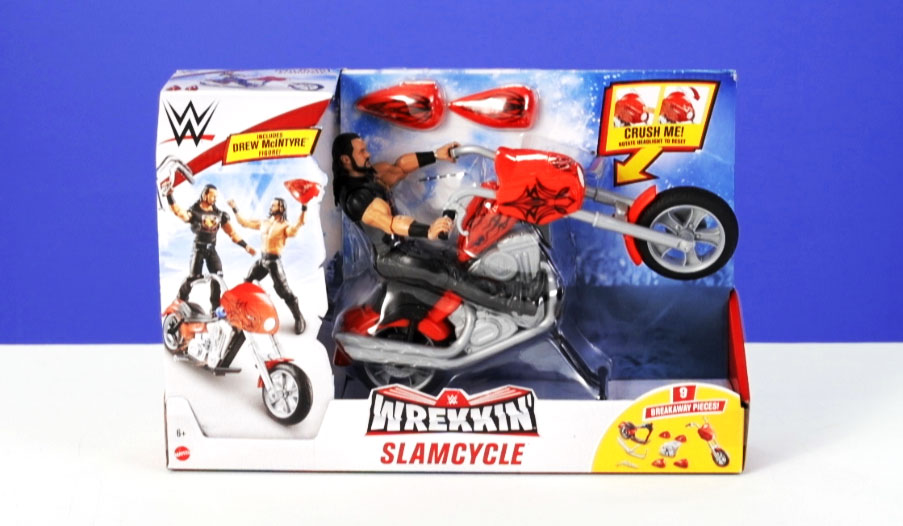 WWE Wrekkin Slamcycle Toy Review