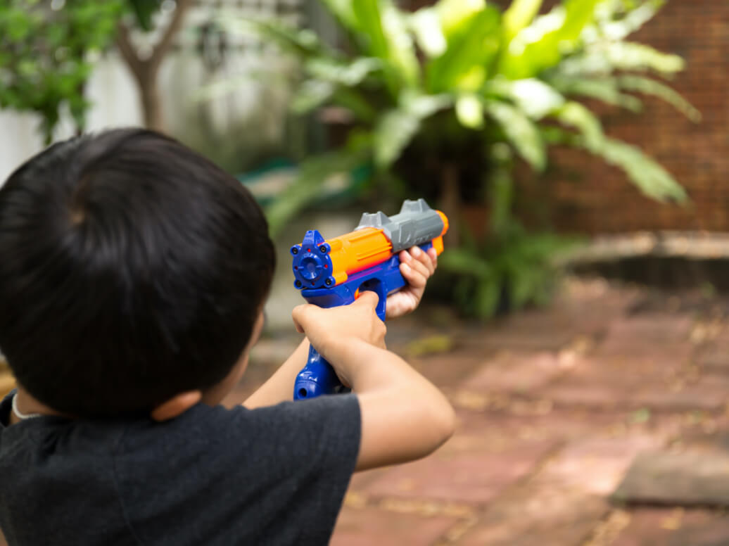 NERF guns and toy blasters